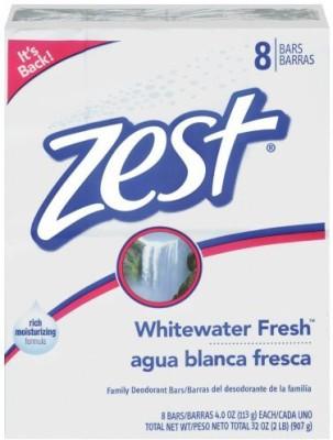 Kodiake Zest 8-Bar Bath Size Soap Whitewater Fresh
