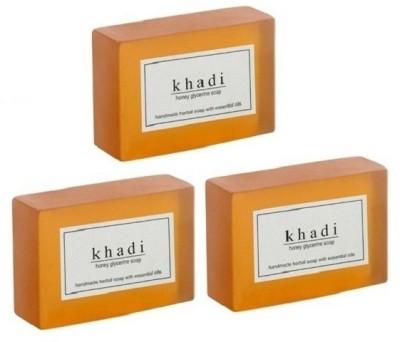 Khadi Herbal NaturalHoney Glycerine Soap - pack of 3