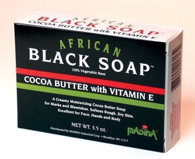 HalalEveryDay Madina African Black Soap Cocoa Butter W/Vitamin E