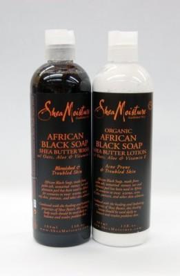 Shea Moisture ORGANIC African Black Soap Wash & Lotion Set [ALL SEALD]