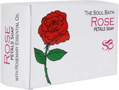 SOUL BATH Handmade Rose Petals And Rosemary Essential Oil Soap