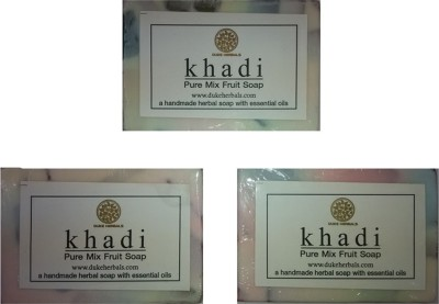Dukeherbals Khadi Mix Fruit Soap -Pack Of 3