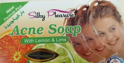 silky pleasure acne soap with lemon & lime
