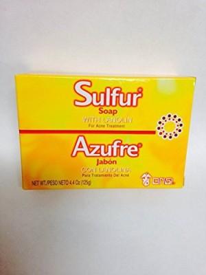 Sanar Grisi Sulfur Soap for Acne - 6 pack