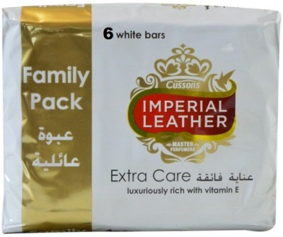 Imperial Leather Cussons Extra Care White Luxuriously Bars ( Pack of 6 )