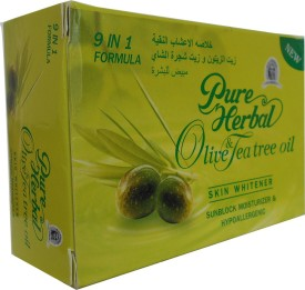 Pure Herbal Olive & Tea Tree Oil For Skin Whitener Soap 9 in 1 Formula