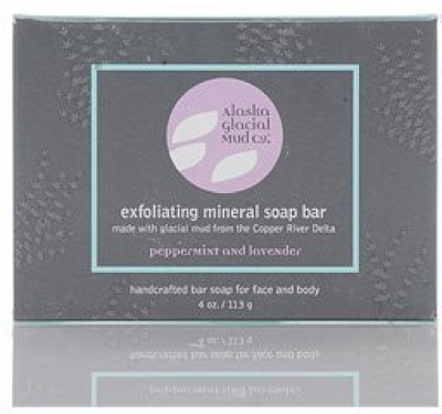 Alaska Glacial Mud Co. - Exfoliating Mineral Soap Bar - Lavender-Peppermint