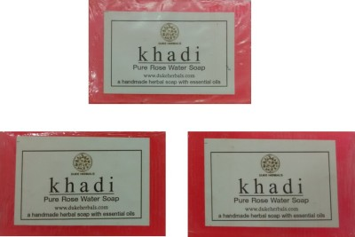 Dukeherbals Khadi Rosewater Soap -Pack Of 3