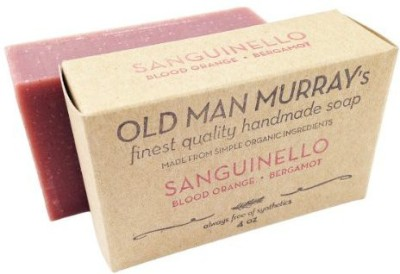 Old Man Murray's Sanguinello All-Natural Soap (2 Bars) - Blood Orange & Bergamot - Handmade w/ Simple Organic Ingredients - No Parabens Alcohol Petroleum Artificial Dyes or Fragrances