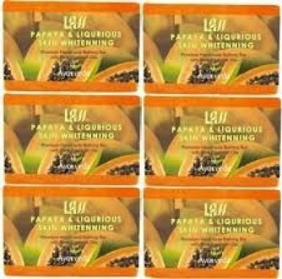 Lass Naturals Pack of 12 Lass Naturals LASS PAPAYA & LIQUORICE Soaps