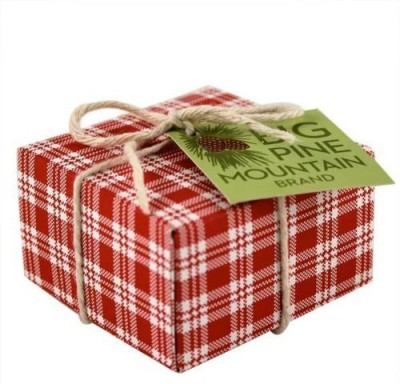 Big Pine Mountain Hand Wrapped Soap Red Plaid(160 g)