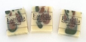 Estrella Handmade Natural Vegan Soap 3 Bars Cedarwood(99.19 g)