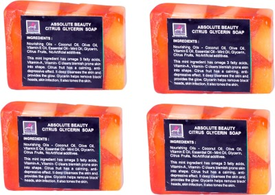 Absolute Beauty Citrus Glycerin Whitening Glow Skin Care Handmade Fairness Soap Combo-4