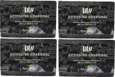Lass Naturals Pack of 4 Lass Naturals ACTIVATED CHARCOAL SOAP