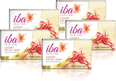 Iba Halal Care Luxury Facial Soap - Saffron Sandal (Pack of 5)