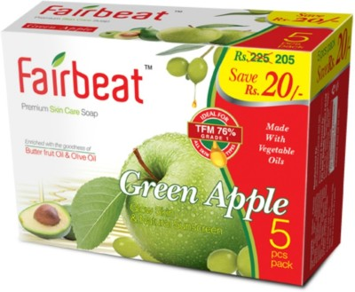 Fairbeat Green Apple Soap- Enriched With Butter Fruit& Olive Oil