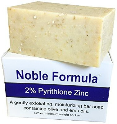 Noble Formula 2% Pyrithione Zinc (ZnP) Bar Soap - Hand Crafted in the USA Especially Formulated for Those with Psoriasis Eczema Dry and Sensitive Skin