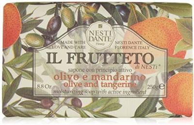 Nesti Dante Il Frutteto Olive and Tangerine Natural Bar Soap for Bath Hands and Body