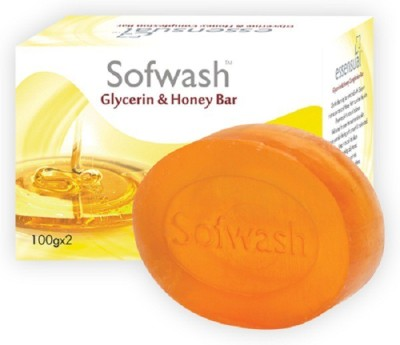 Modicare Sofwash Glycerin & Honey Bar 100g (Pack Of 4)