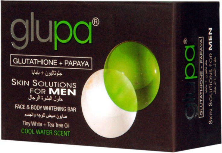 Glupa Papaya & Glutathione Soap Skin Glowing & Fairness Soap For Men(135 g)