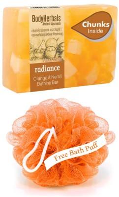 BodyHerbals Radiance, Hand Made Orange & Neroli Bathing Bar With Natural Chunks