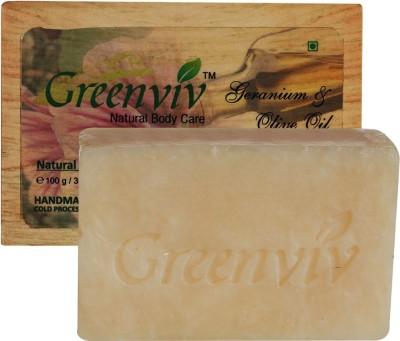 Greenviv Natural Geranium & Olive Oil Soap
