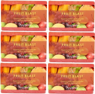 Lass Naturals Fruit Blast Handmade Soap (Pack Of 6)