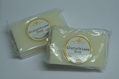 Glutathione Soap Whitening Bleaching Professional Whitening Handmade Soap Super White Pack of 2 Bars Save Over 25%