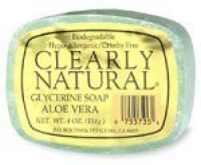 Clearly Natural Aloe Vera Glycerine Bar Soap - 6 per case.