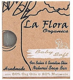 La flora organics Baby Soft Handmade Soap bar for babies & sensitive skin