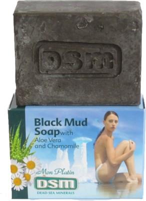 Dead Sea Minerals Black Mud Soap with Aloe Vera