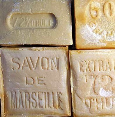 Savon de Marseille (Marseille Soap) pure Palm oil soap from the South of France.