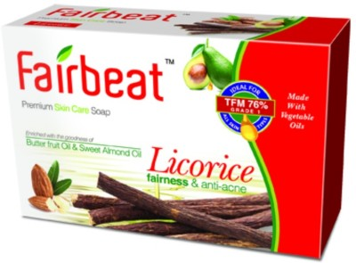 Fairbeat Licorice soap enriched with Butter fruit and sweet almond oil