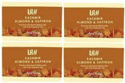 Lass Naturals Pack of 4 Lass Naturals ALMOND & SAFFRON SOAP