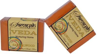 Samayah Hand Made Bath Soap Veda (Sandalwood) Set of 2