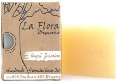 La Flora Organics Royal Jasmine aromatic handmade soap bar