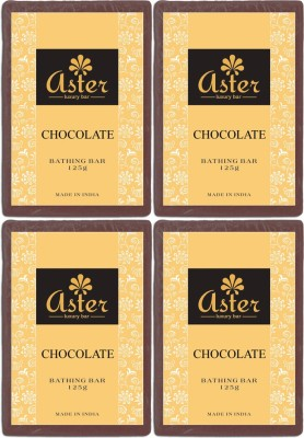 Aster Luxury Chocolate Soap - Pack of 4