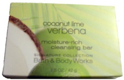 Bath & Body Works Coconut Lime Verbena Moisture Rich Cleansing Soap. Lot of 12 Bars