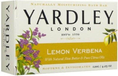 Yardley London Lemon Verbena with Natural Shea Butter & Pure Citrus Oil (Pack of 8)