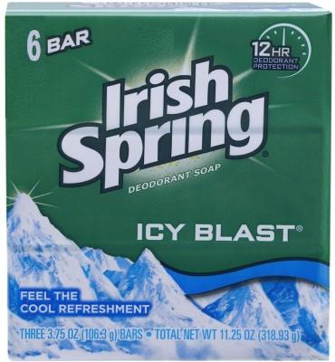 Irish Spring Ice Blast Deodorant soap ( Pack of 6)
