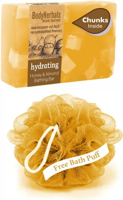 BodyHerbals Hydrating, Hand Made Honey & Almond Bathing Bar With Chunks