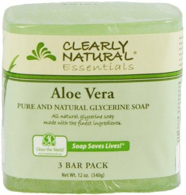 Clearly Natural Glycerine Bar Soap Aloe Vera 3 Count