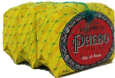 Phebo Linha Tradicional - Sabonetes em Barra de Glicerina Odor de Rosas - ( Traditional Collection - Glycerin Bar Soaps Scent of Roses)