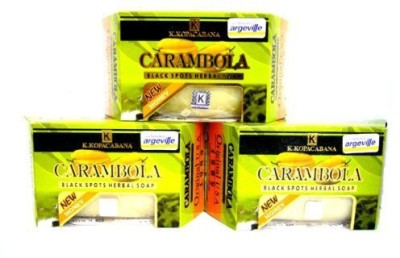 Argeville Carambola 3 Plus Honey Anti-acne Wrinkles Black Spots Herbal Soap Bar Amazing of Thailand
