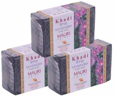 Khadimauri Lime-Lavender Soap - Pack of 3 - Premium Handcafted Herbal