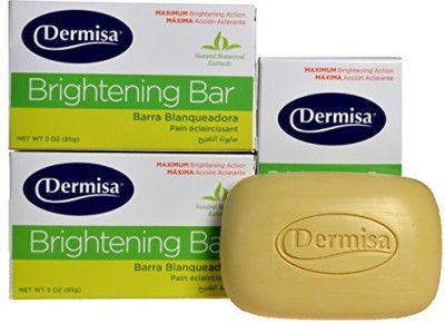 Dermisa 3 AMAZING BRIGHTENS CLEANS SOAP DERMISA GET RID IMPERFECTIONS NATURALLY