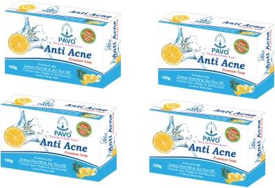 Pavo Anti Acne Premium Soap (Pack of 4)