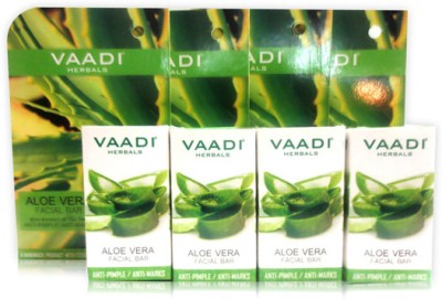 Vaadi Herbals Value Pack of 4 Aloevera Facial Bar