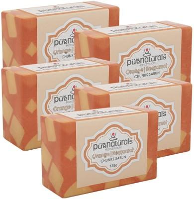 Purenaturals Chunks Soap Orange Bergamot - 125g (Set Of 5)