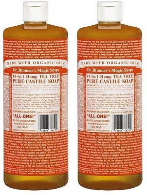 Dr. Bronner's Magic Soaps Pure-Castile Soap 18-in-1 Hemp Tea Tree Bottle